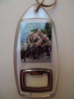 Compo, Seymour & Cleggy Pushing the bike Bottle Opener