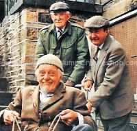 Clegg, Foggy & Compo on cart