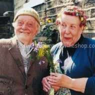 Compo & Nora with yellow flower