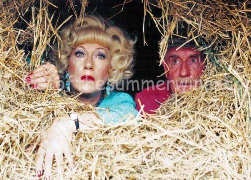 Howard & Marina hiding in Hay Bale