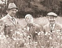 Seymour, Compo & Clegg in the field (B & W)