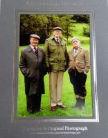 Compo, Clegg & Foggy standing in the green field