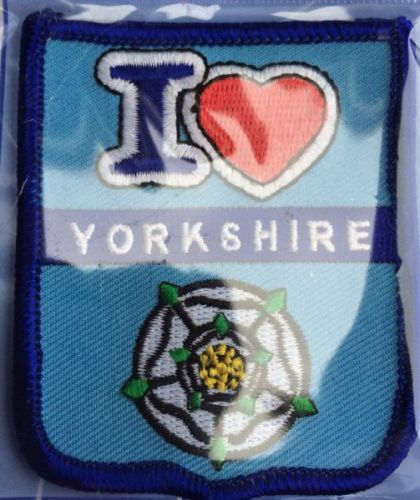 I Love Yorkshire Embroidered Bagde