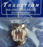 Yorkshire Rose Walking Stick Badge